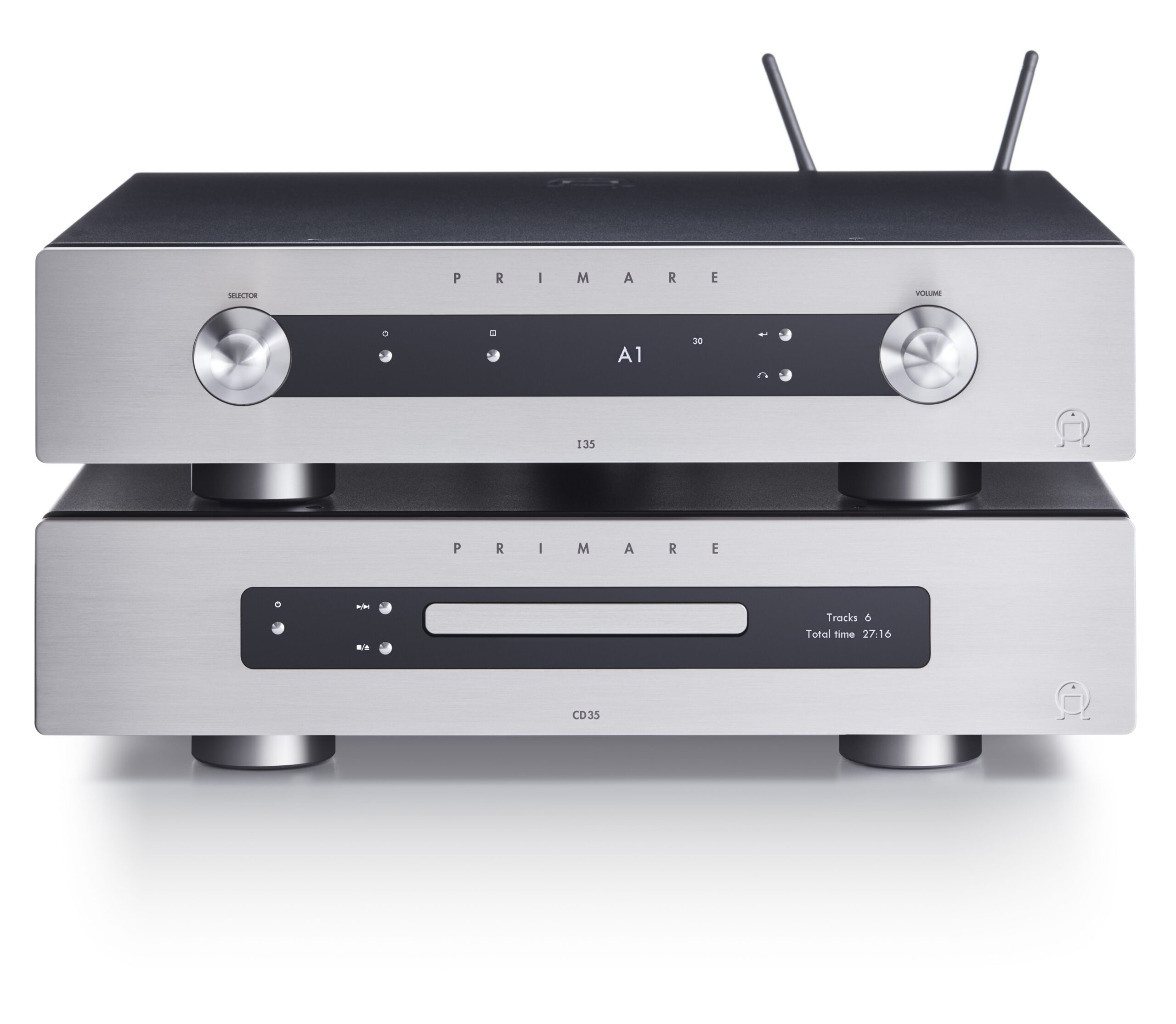 Primare I35 Prisma modular integrated amplifier and network player, CD35 CD and network player