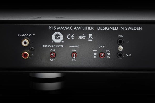 Primare R15 MM/MC phono preamplifier back close up