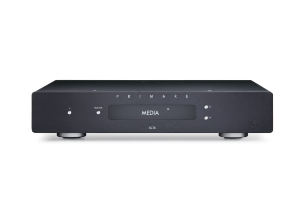 Primare SC15 Prisma preamplifier and network player front black without antenna