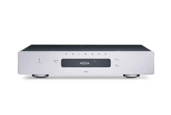 Primare SC15 Prisma preamplifier and network player front titanium without antenna