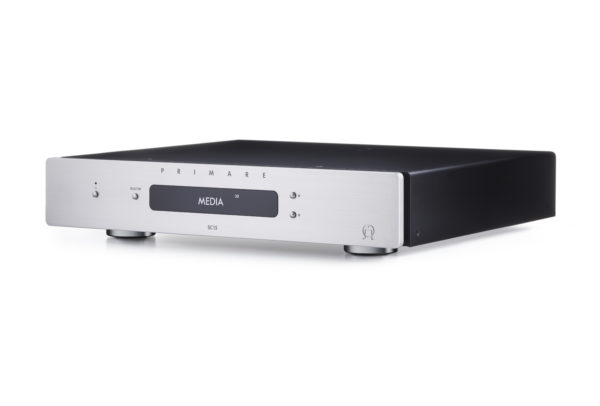 Primare SC15 Prisma preamplifier and network player side titanium